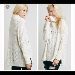 Free people complex cable knit sweater
